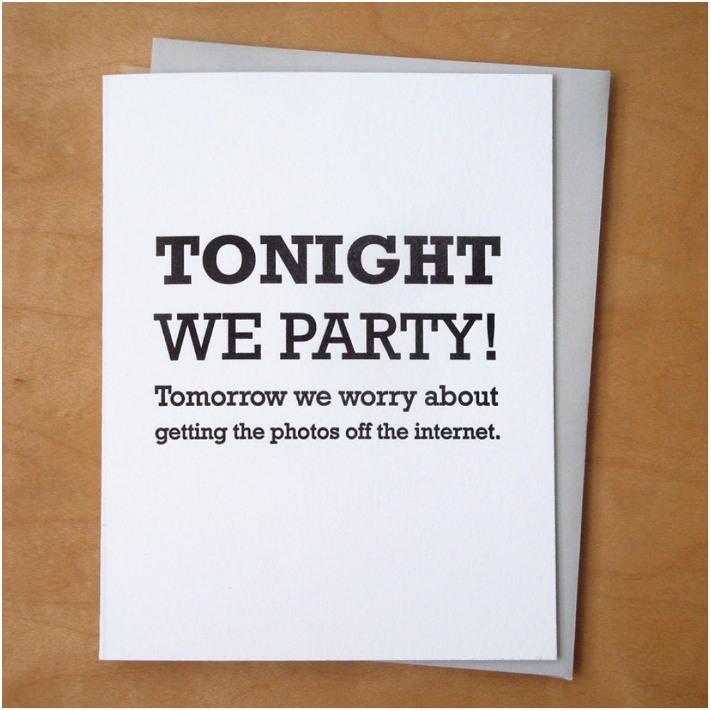 Tonight We Party Card