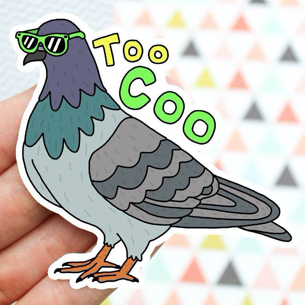 Too Coo Pigeon Sticker