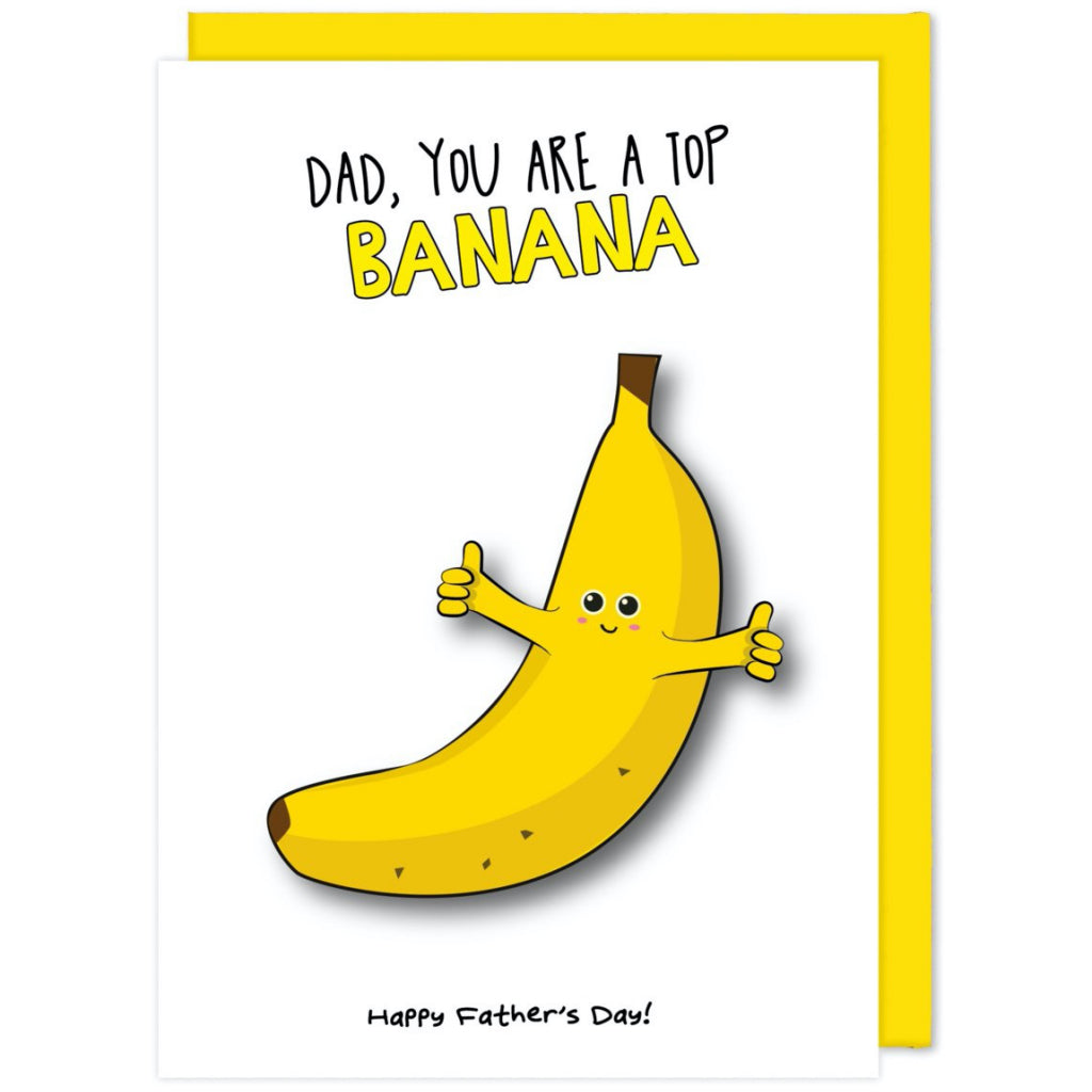 Top Banana Dad Card