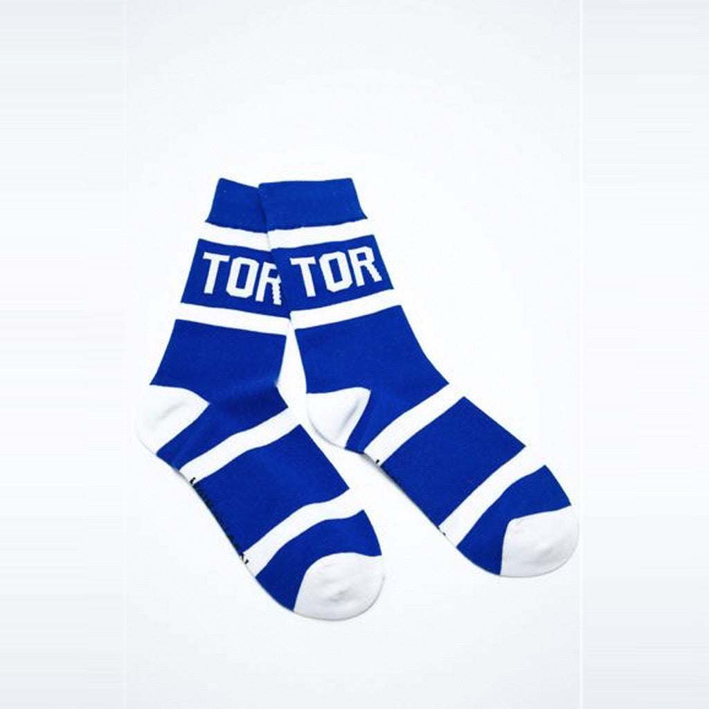 Pair of Toronto City Stripes Socks.