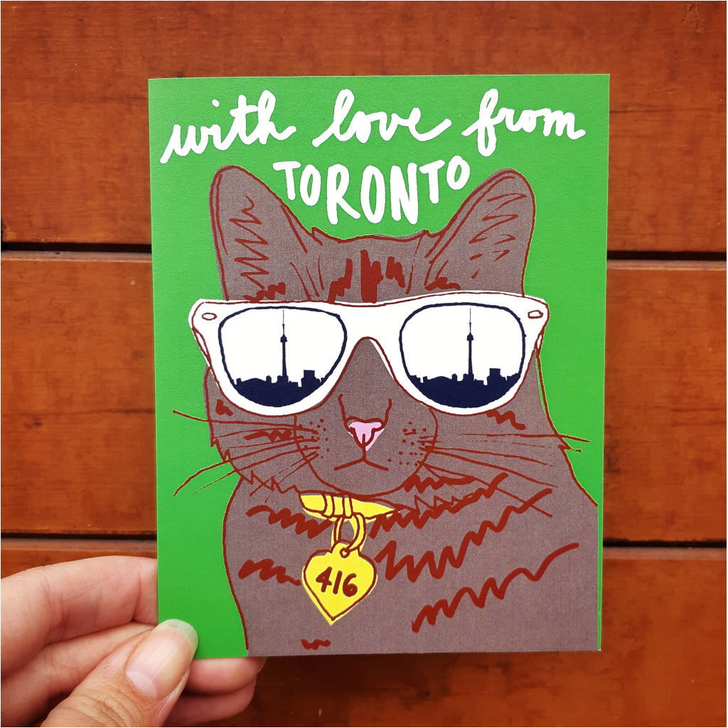 Toronto Cool Cat Card