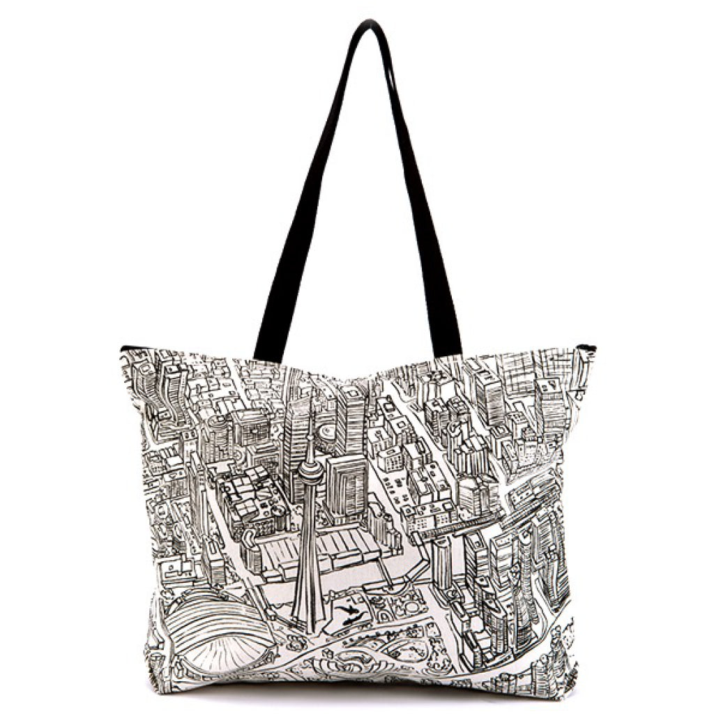 Toronto Lines Canvas Tote Bag