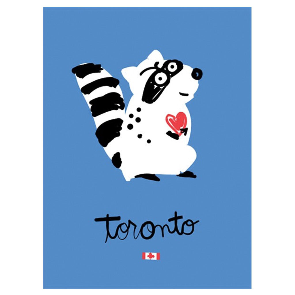 Toronto Raccoon Card