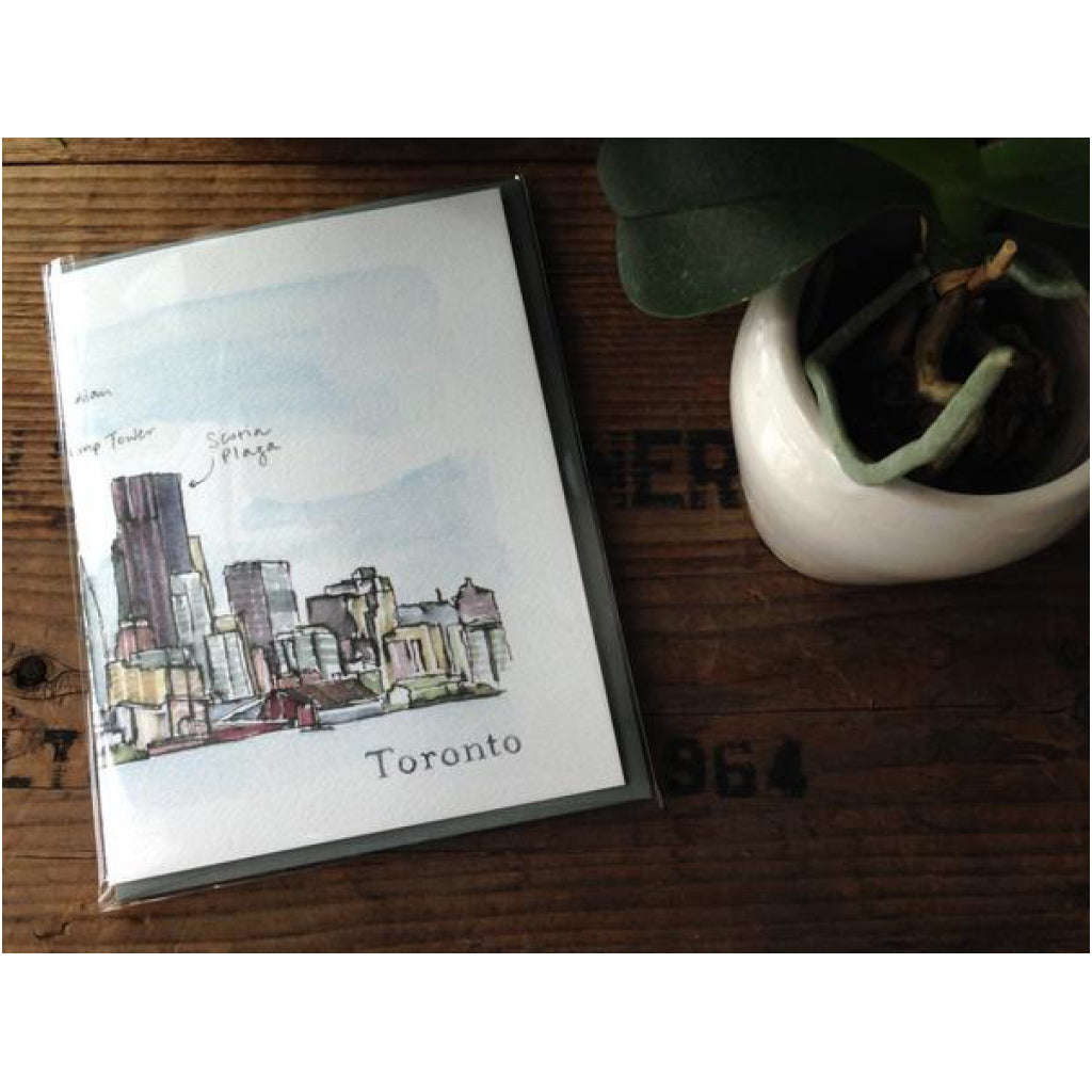 Toronto Skyline Accordian Card