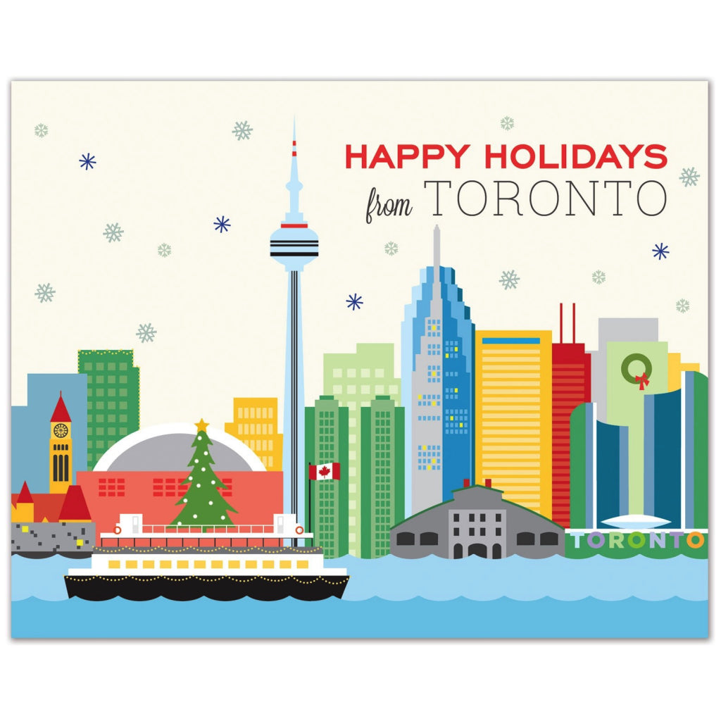Toronto Skyline Holiday Card By The Found