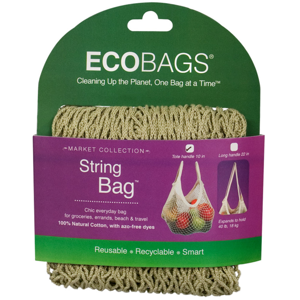 Tote Handle String Bag Sage
