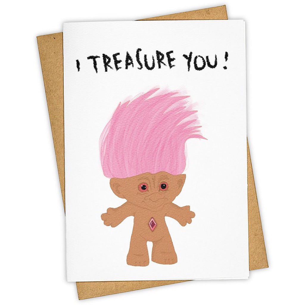 Treasure You Troll Doll Card