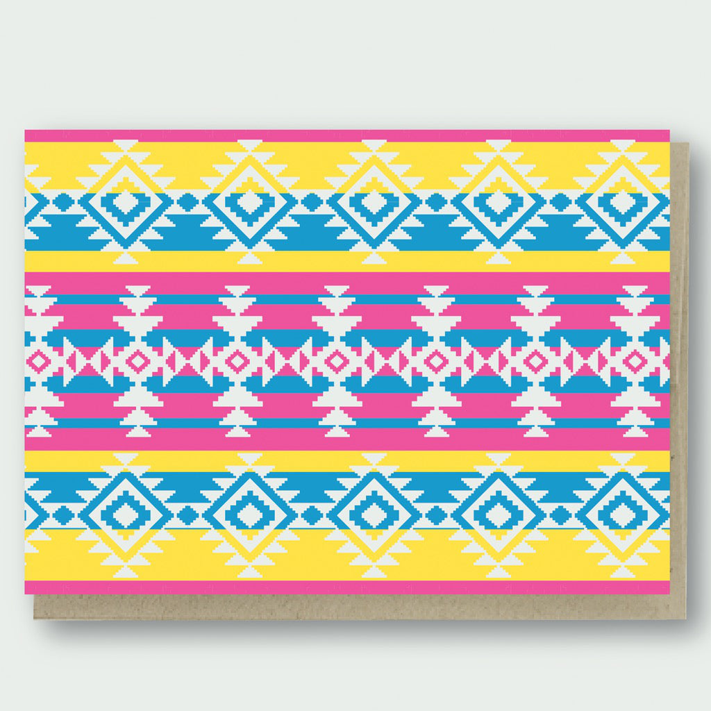 Tribal Wave Pattern Card