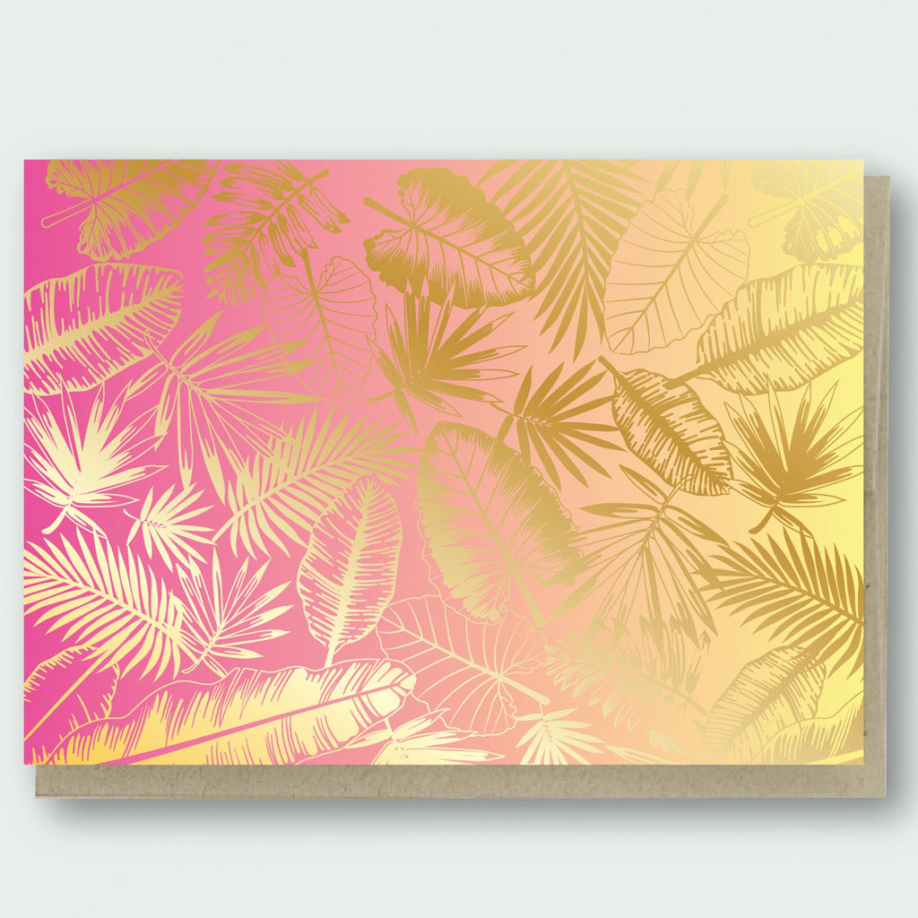 Tropical Foliage Card