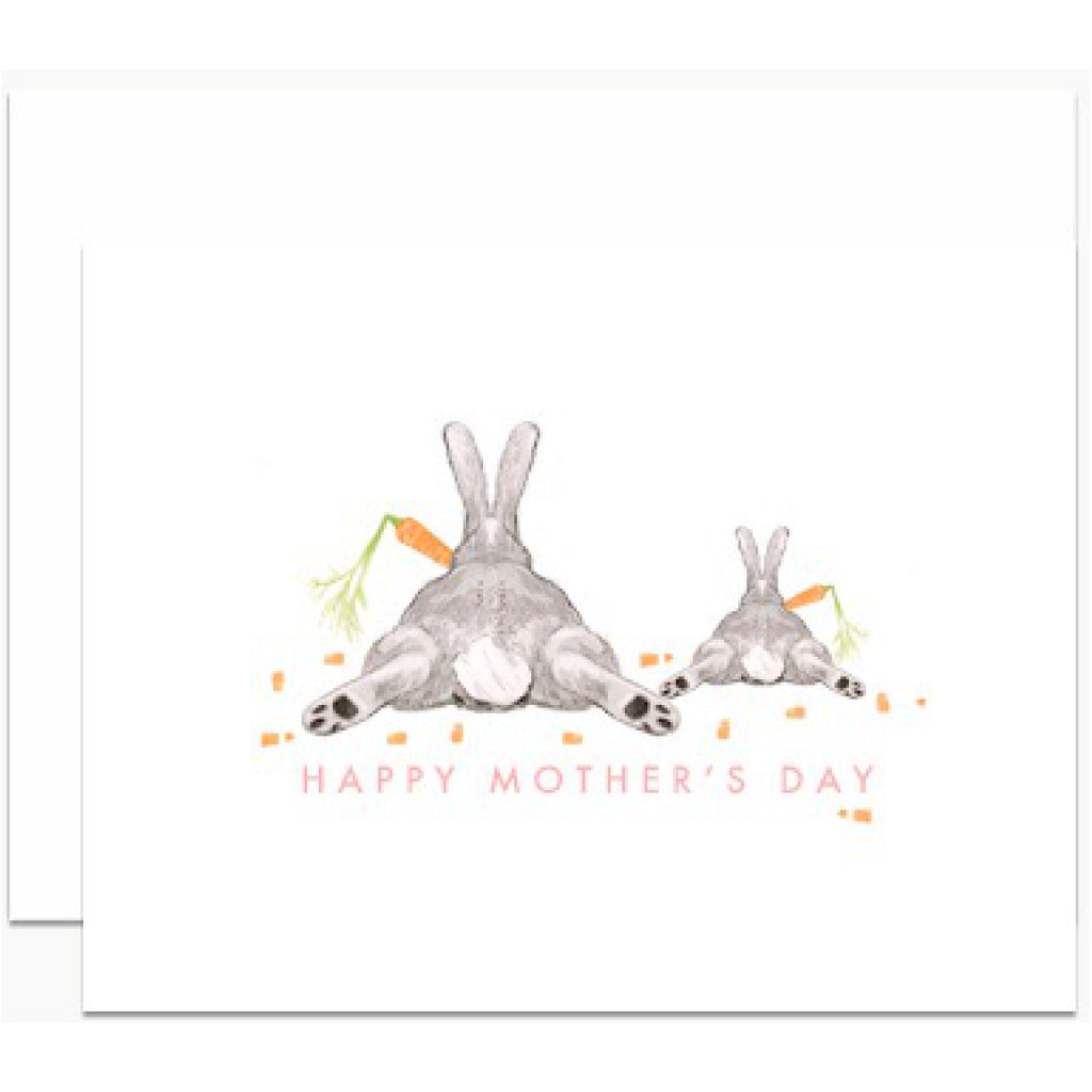 Two Bunny Bums Mom Card