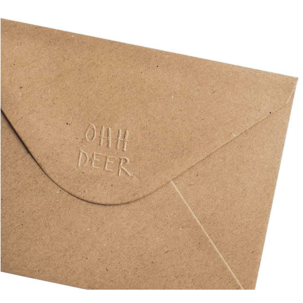 UFO Enamel Pin Greeting Card Envelope