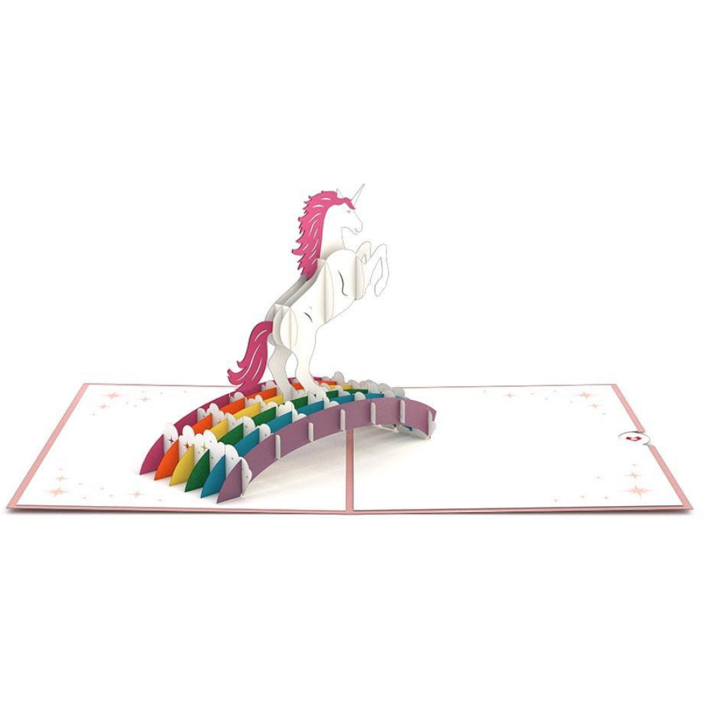 Unicorn 3D Pop Up Card Full view