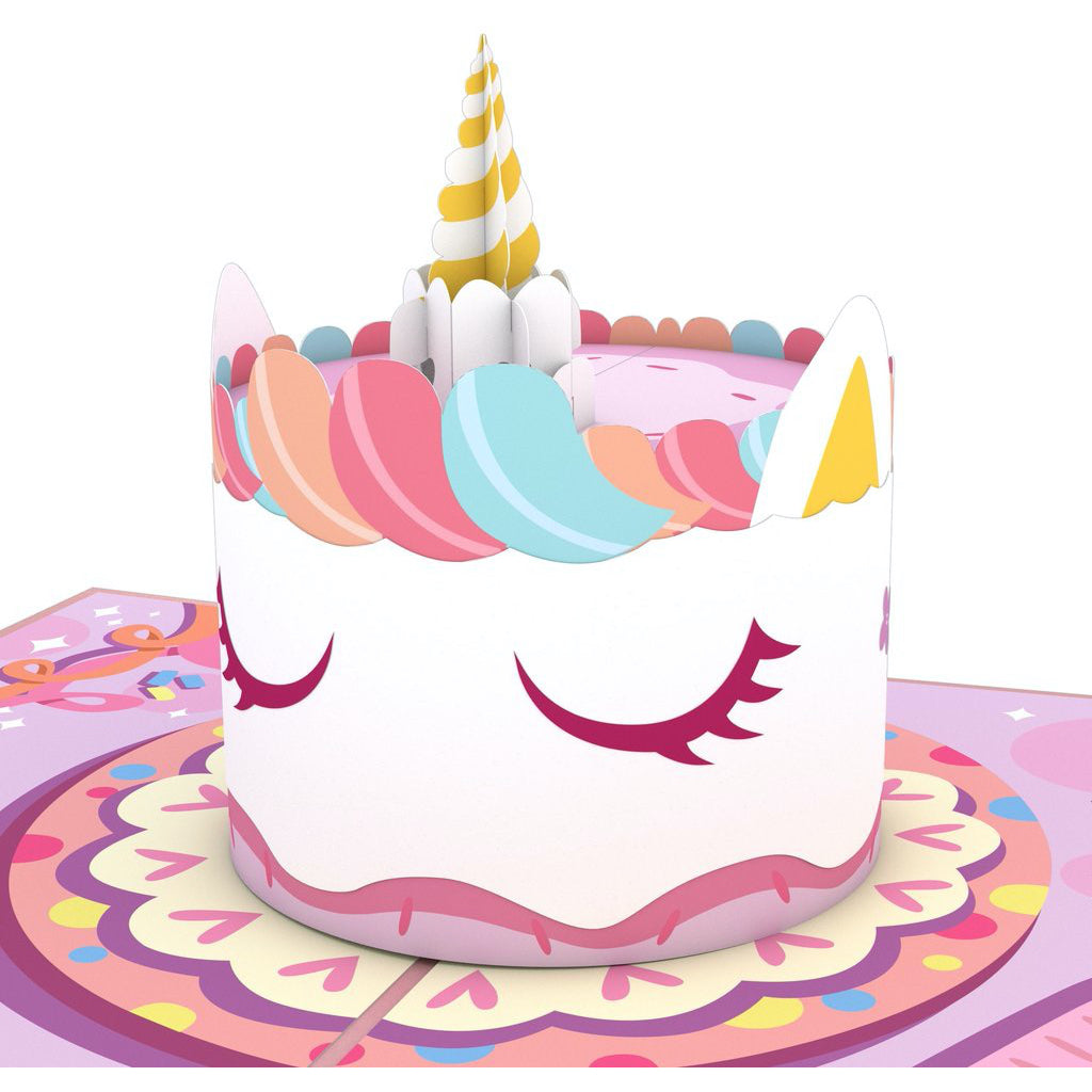 Unicorn Cake 3D Pop Up Card