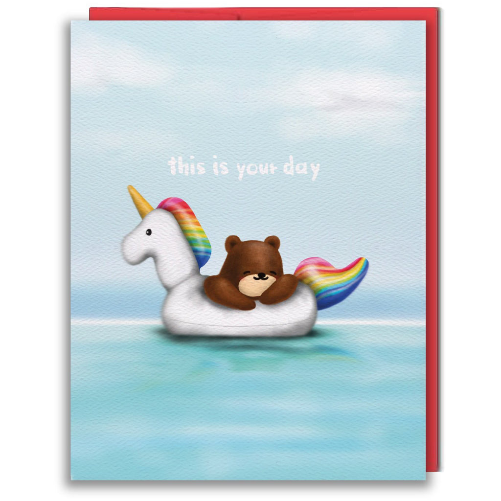 Unicorn Floaty Card