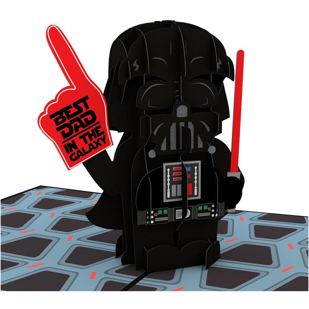 Darth Vader: Best Dad in the Galaxy 3D Pop Up Card Detail
