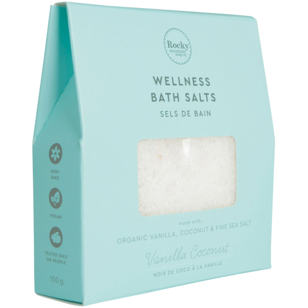 Vanilla Coconut Wellness Bath Salts 100g