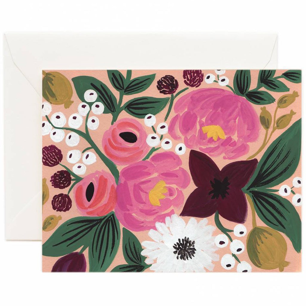 Vintage Blossoms Peach Card