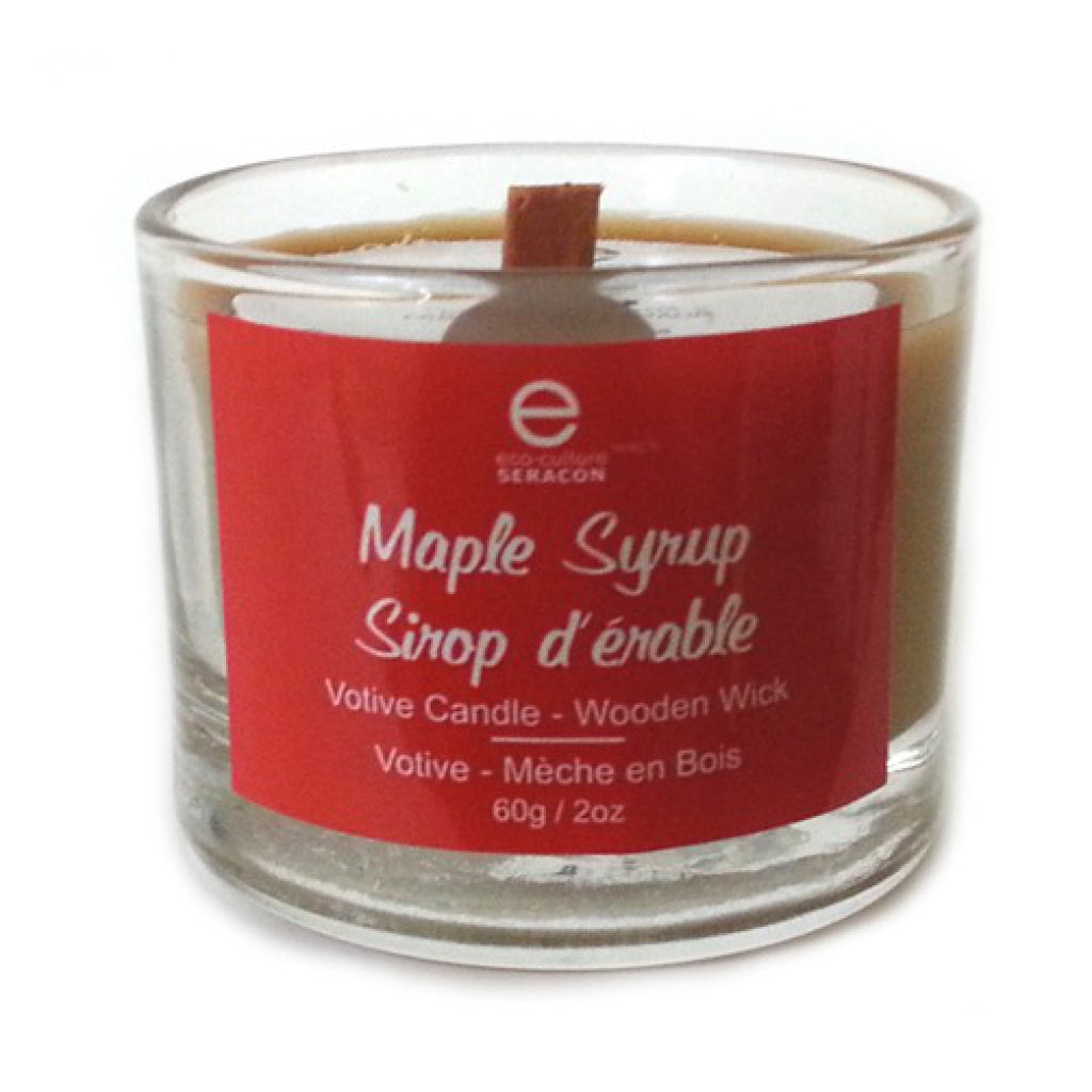 Votive Maple Syrup Candle Wood Wick