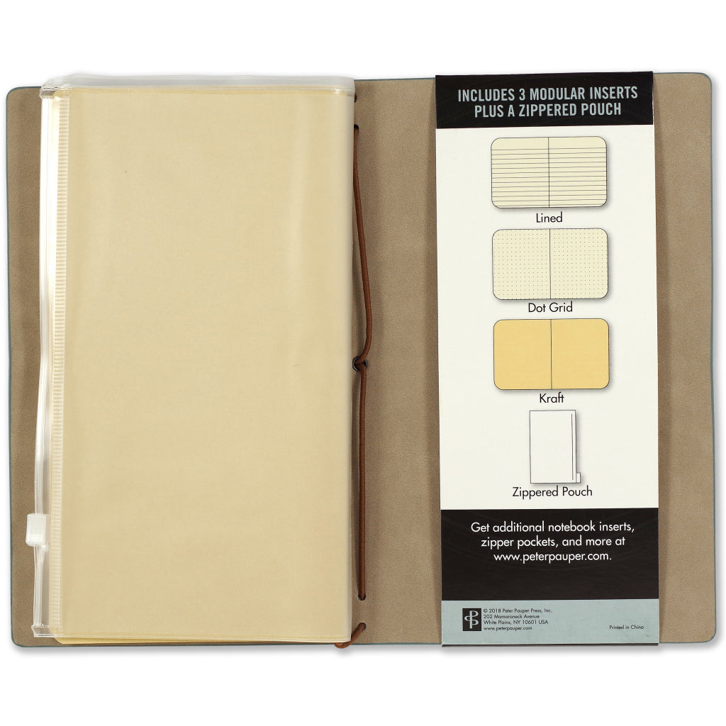 Packaging of Voyager Journal Light Blue.