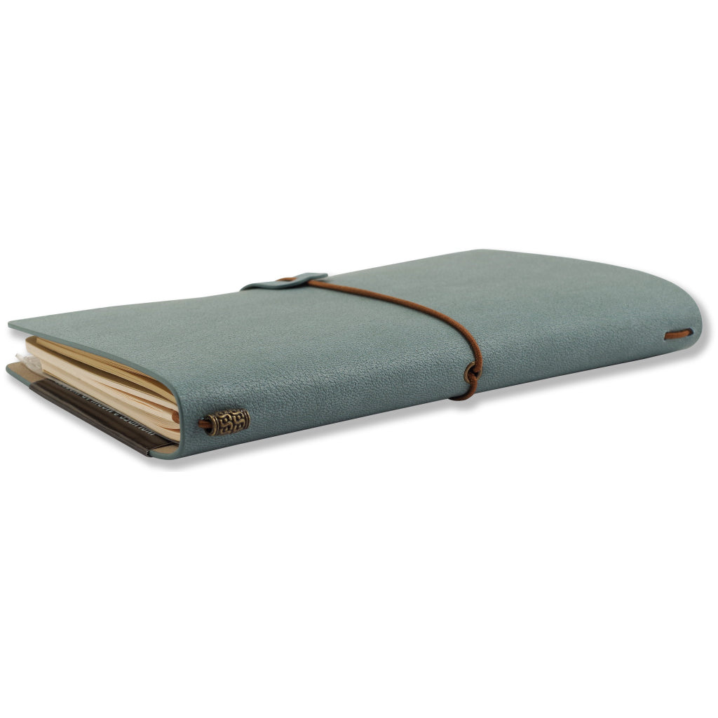 Side view of Voyager Journal Light Blue.