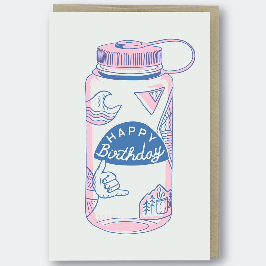 Water Bottle Birthday Card