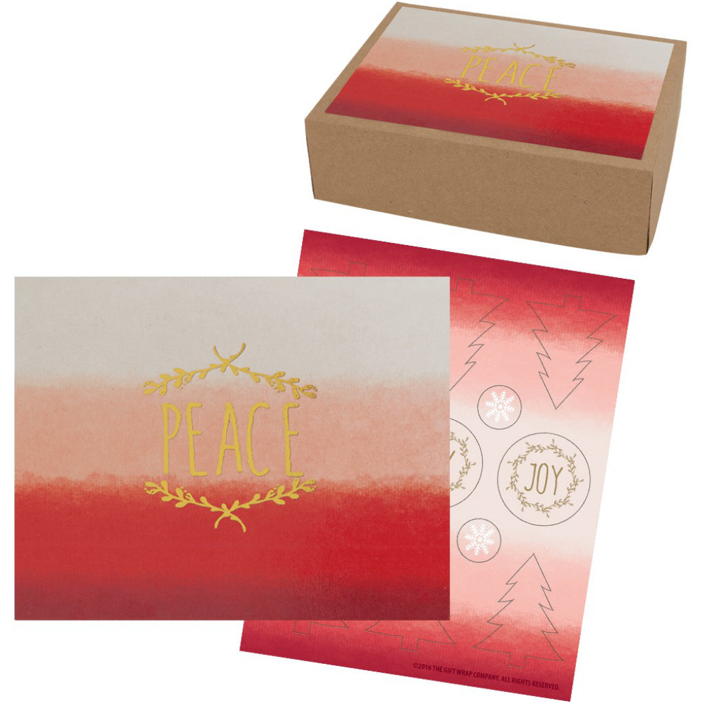 Watercolour Peace Boxed Holiday Cards by The Gift Wrap Company ...