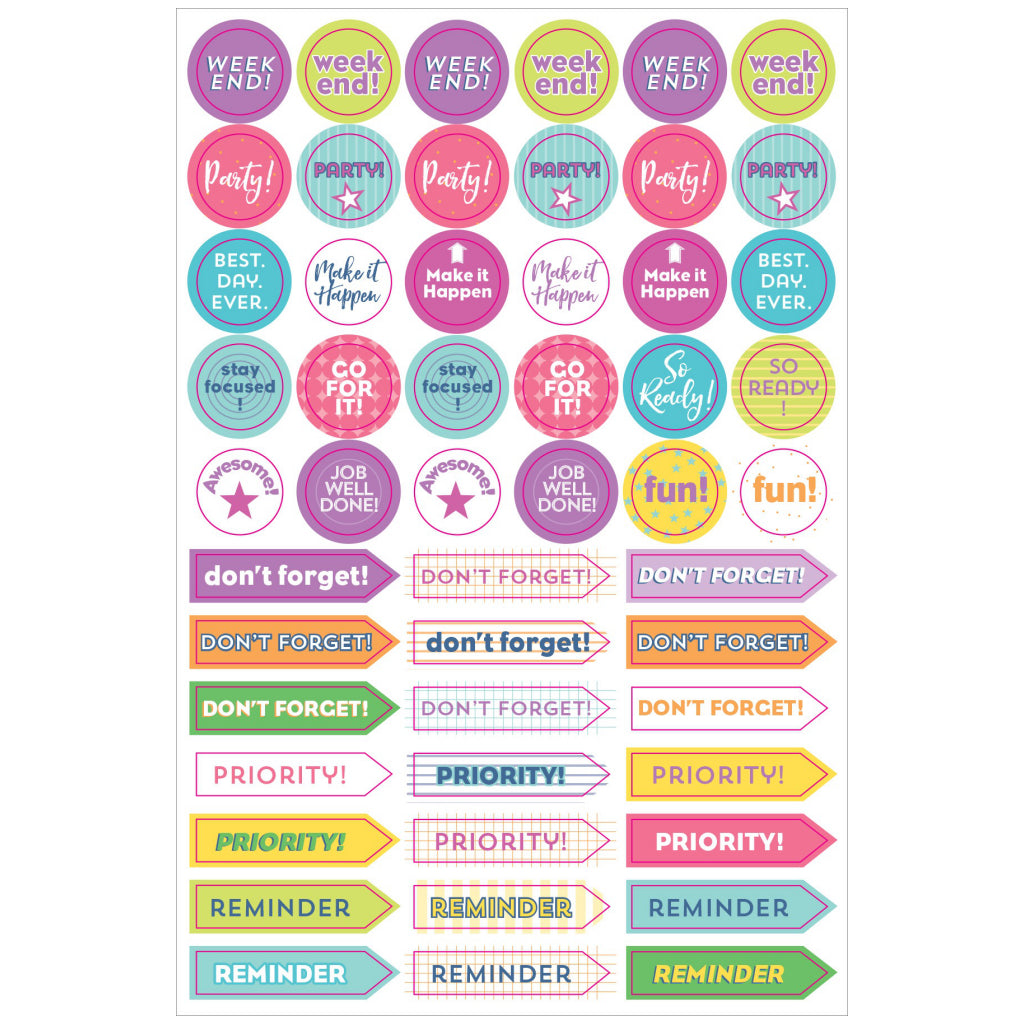 Sample of Weekly Planner Stickers.