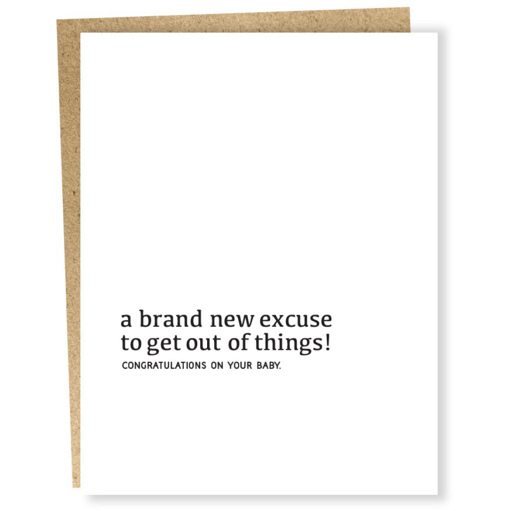 Well Wishes - New Excuse Card