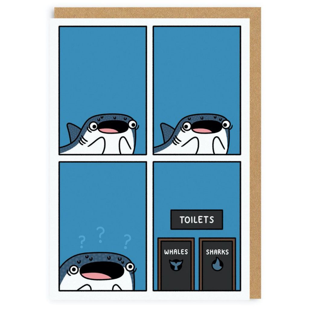 Whale Shark Bathroom Options Card