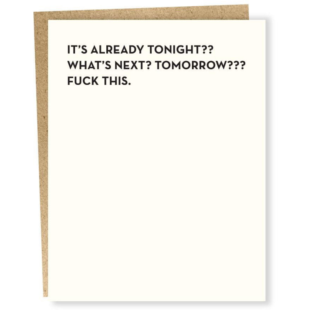 What's Next? Tomorrow? Card
