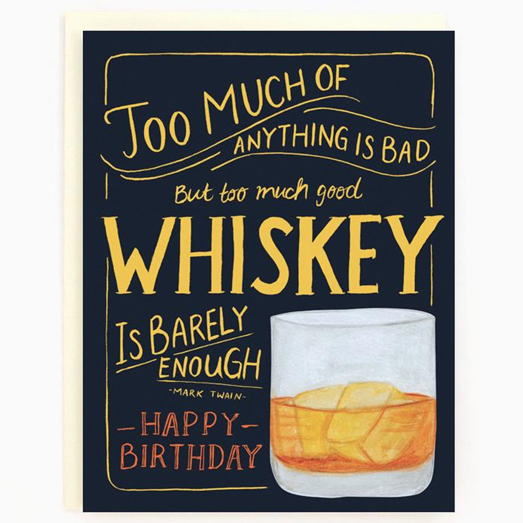 Whiskey Birthday Card