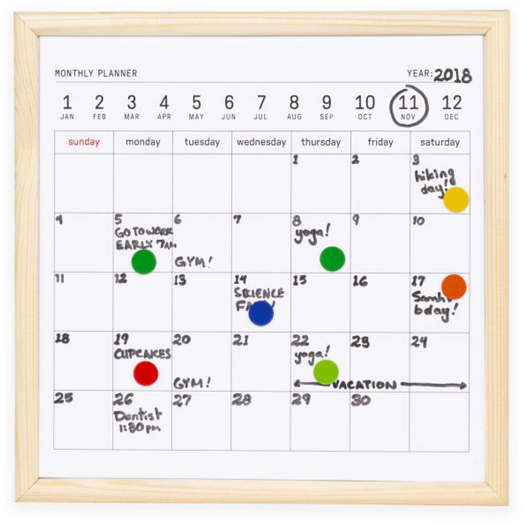 White Board Calendar Small