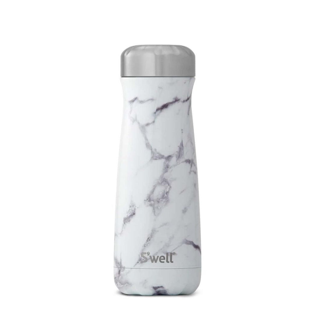 White Marble Traveler 20oz