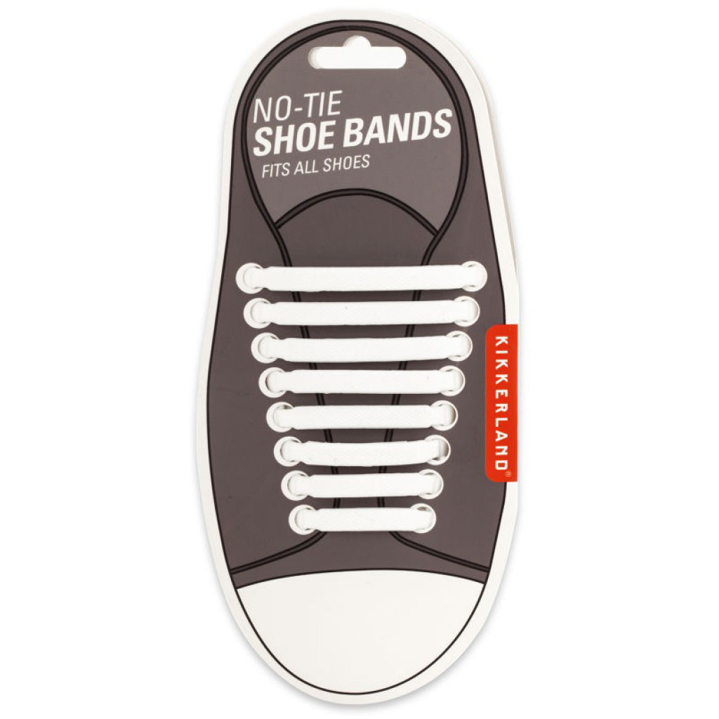 White No-Tie Shoe Bands On Shoe