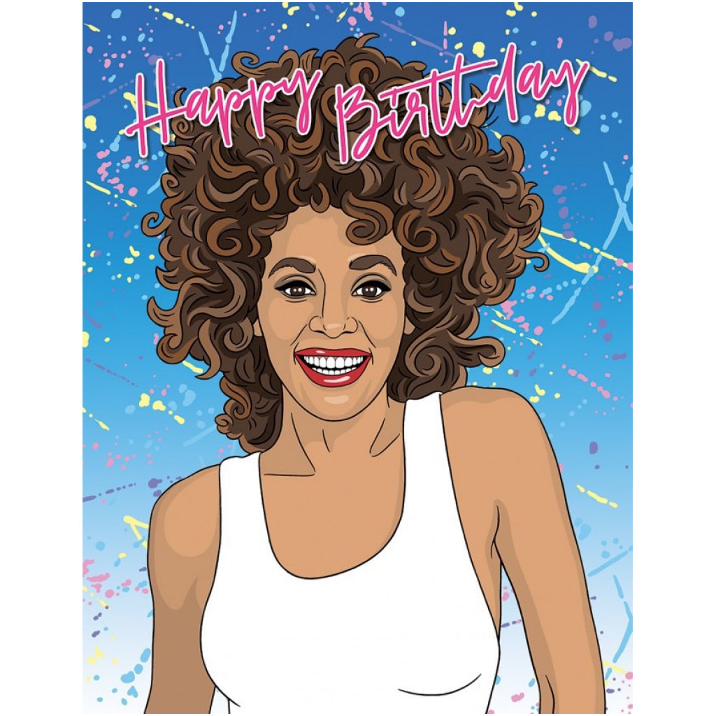 Whitney Houston Birthday Card