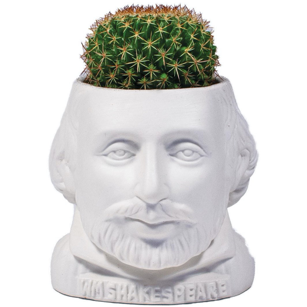 William Shakespeare Planter Pot Front View