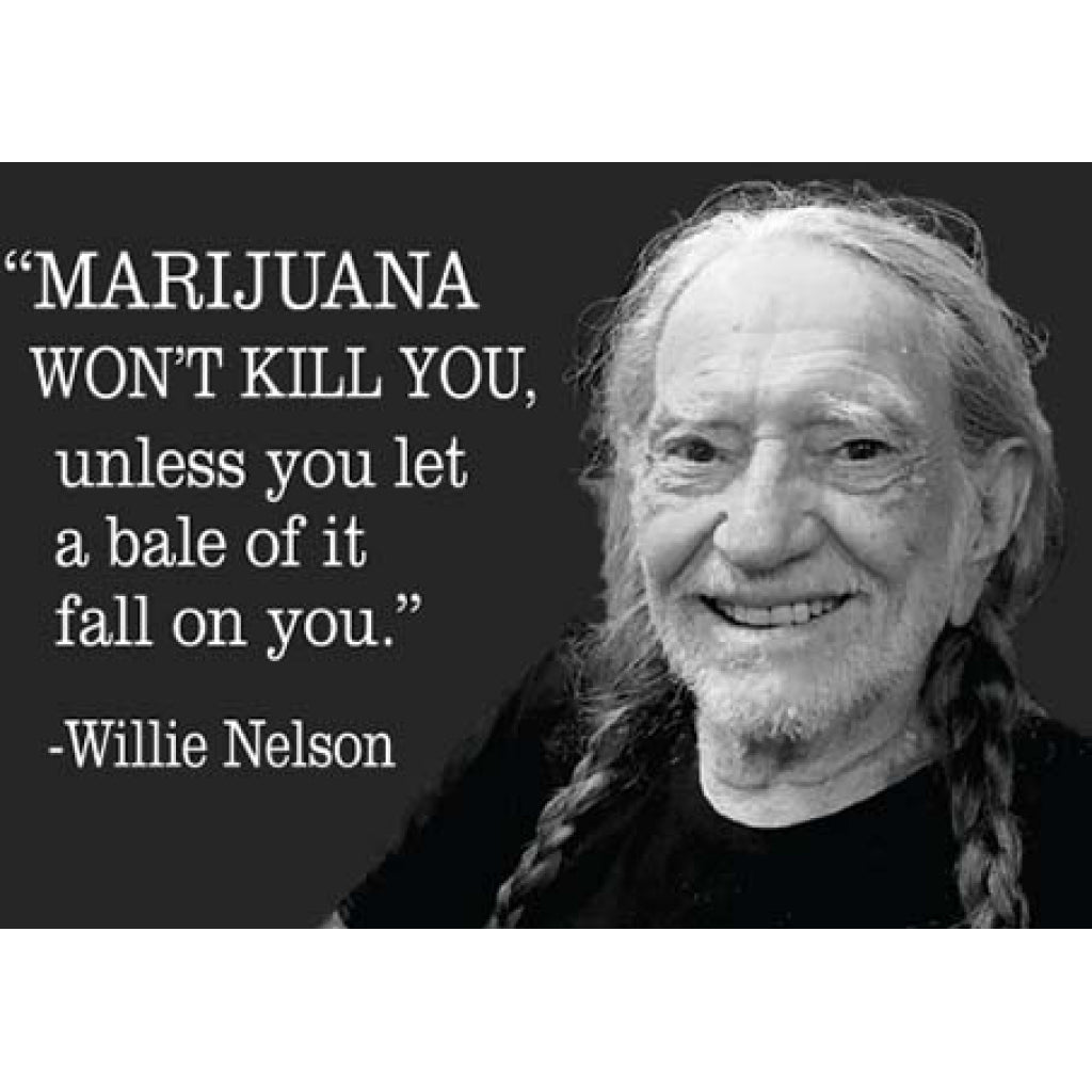 Willie Nelson Bale of Marijuana Magnet