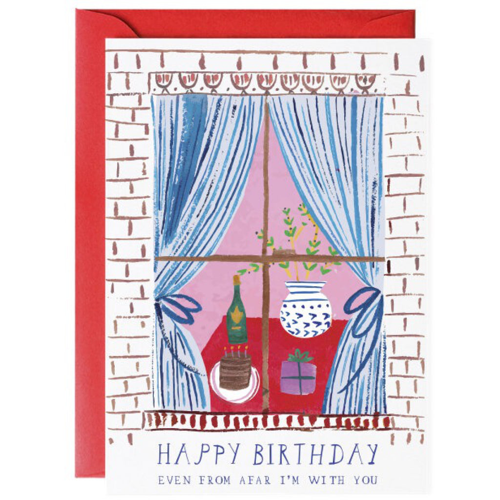 Window Party Birthday Greeting Card