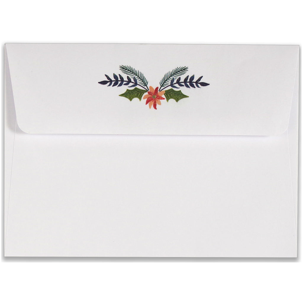 Envelope of Wings Of Peace Boxed Holiday Cards.