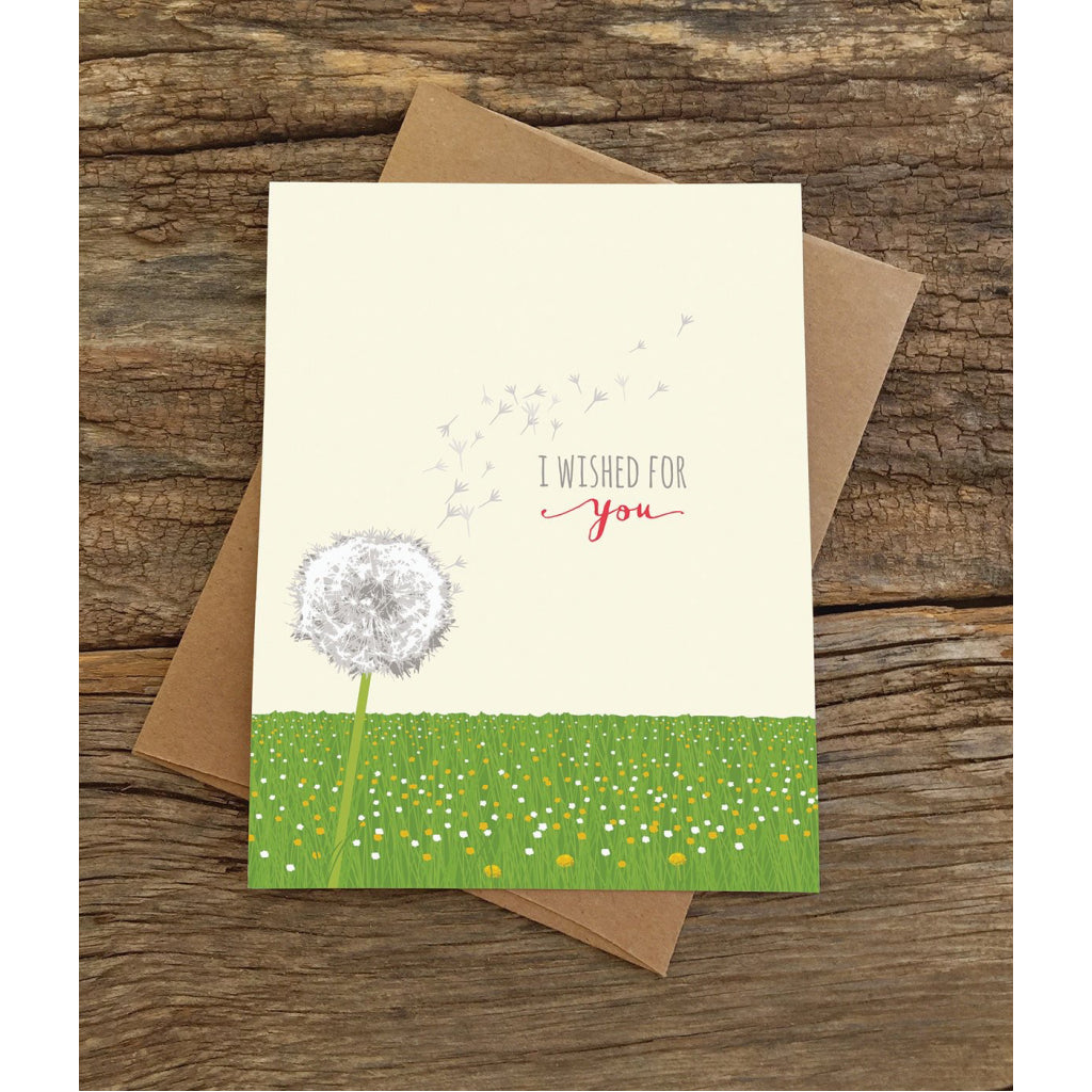 Wished For You Dandelion Card With Envelope