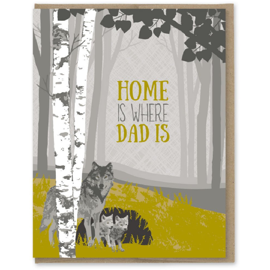 Wolf Dad Is Home Card