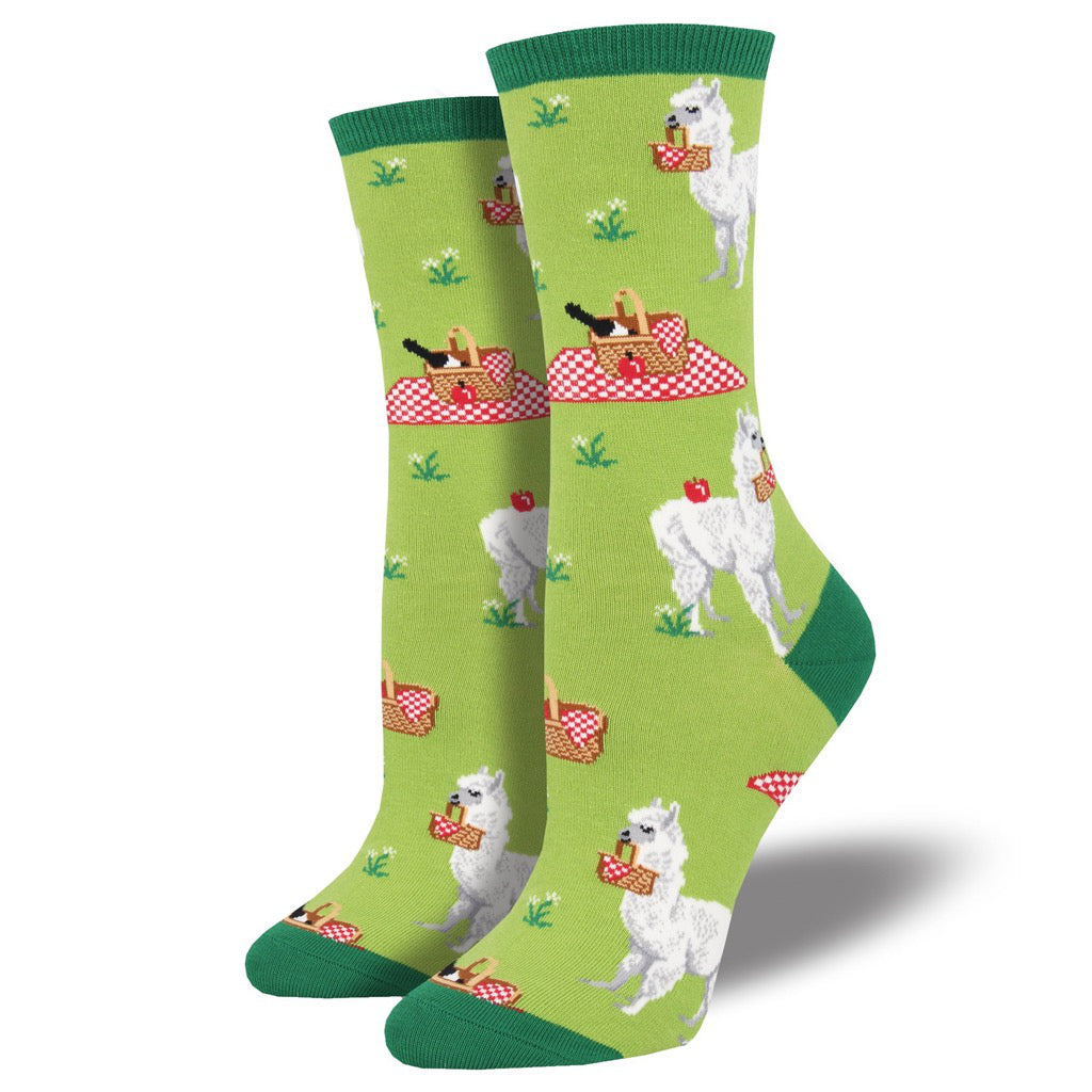 Women's Alpaca Lunch Socks Green