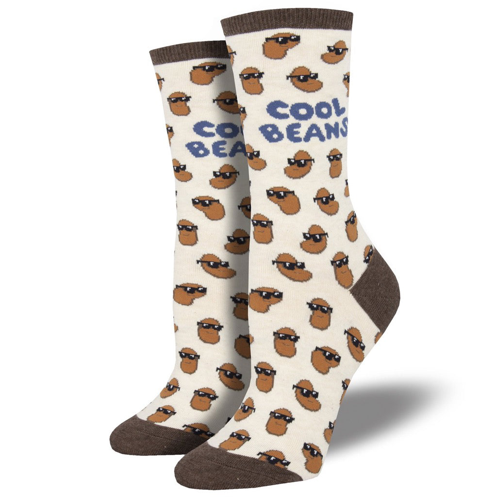 Women's Cool Beans Socks Ivory Heather