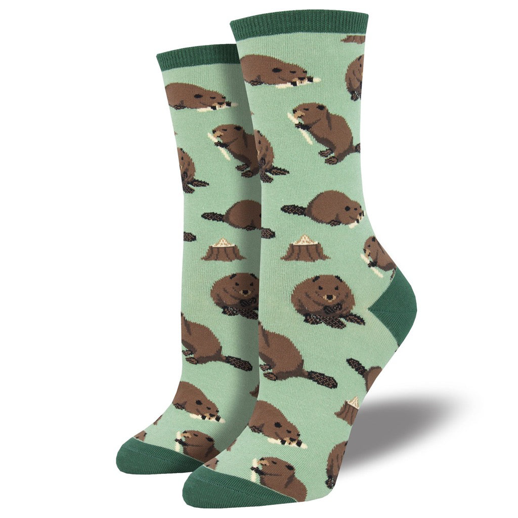 Women's Dam It Socks Green
