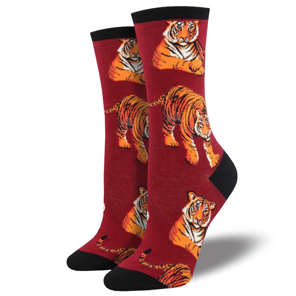 Women's I Ain't Lion Crew Socks Red