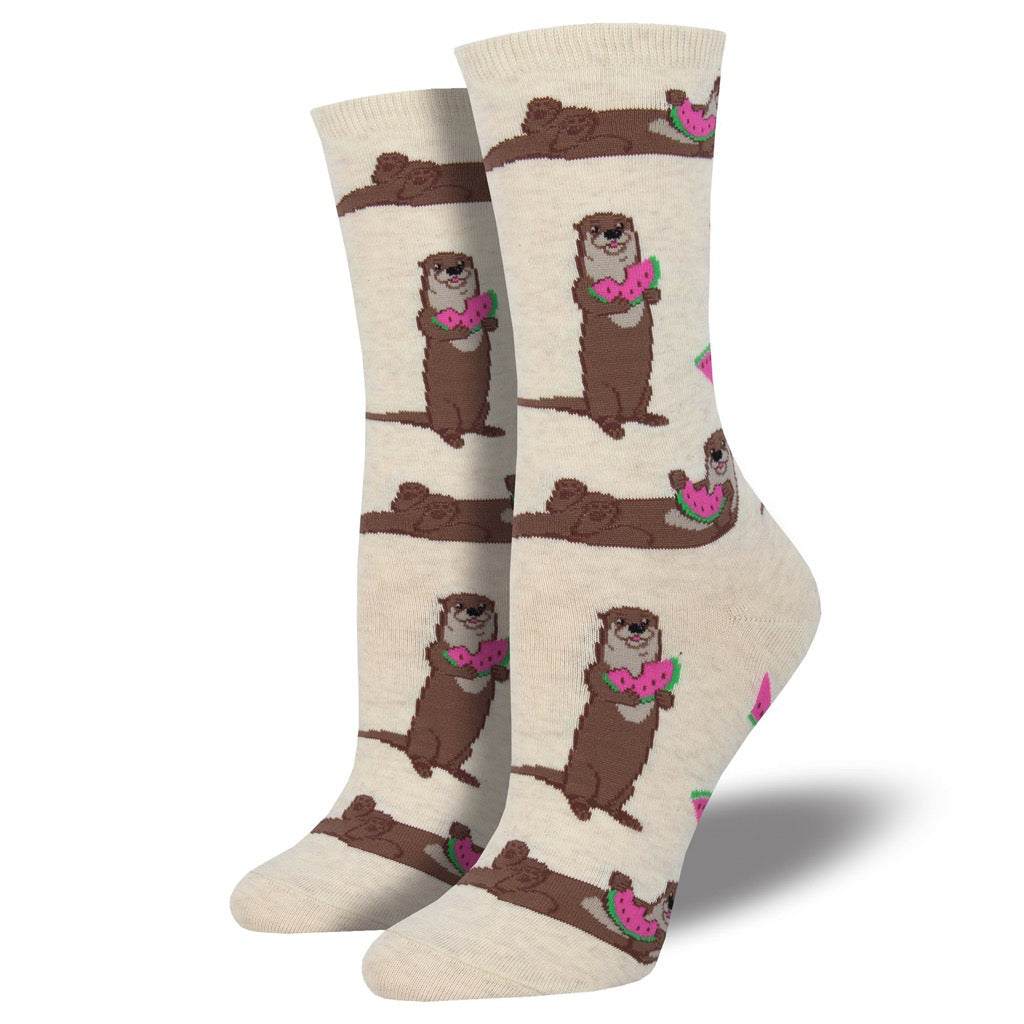 Women's Ottermelon Socks Ivory Heather
