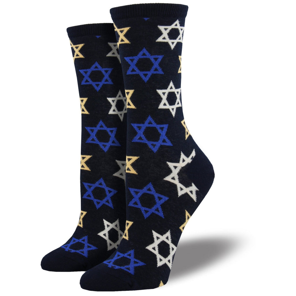 Women's Star Of David Socks Navy
