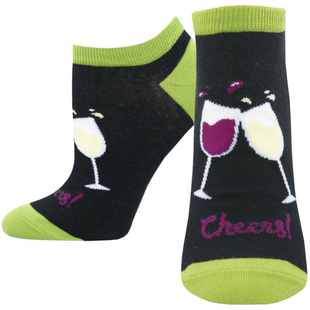 Women's Cheers Ankle Socks Black