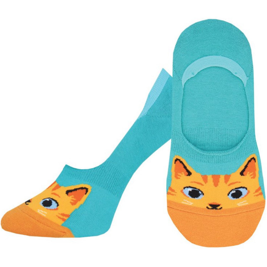 Women's The Cat's Meow Liner Socks Teal