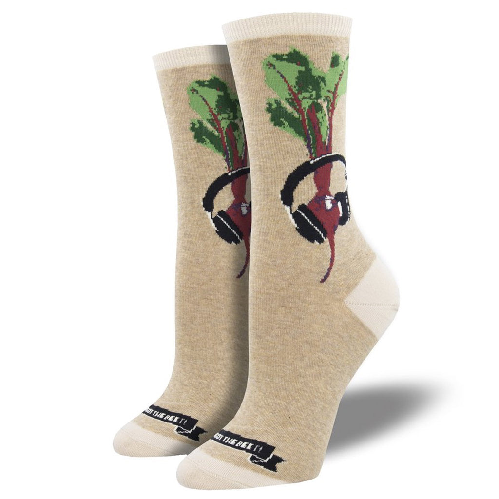 Women's We Got The Beet Socks Hemp Heather